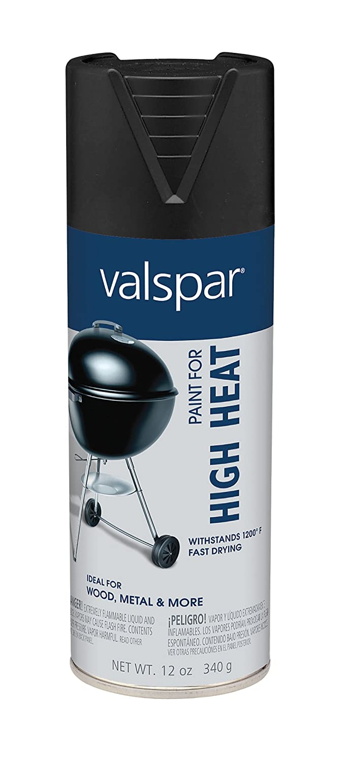 Valspar (68004-6PK) Black High Heat Barbecue Paint - 12 oz., (Pack of 6)