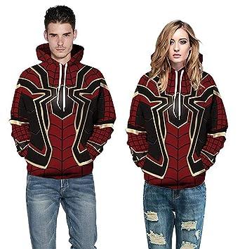 88e3e005 Fashion Men Women Avengers Infinity War Spiderman Hoodie Iron Spider-Man  Coat Jacket Cosplay Costume