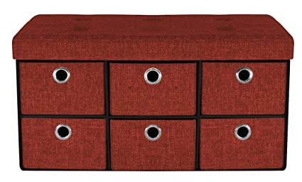 Amazon Com Sorbus Storage Bench Chest With Drawers Collapsible