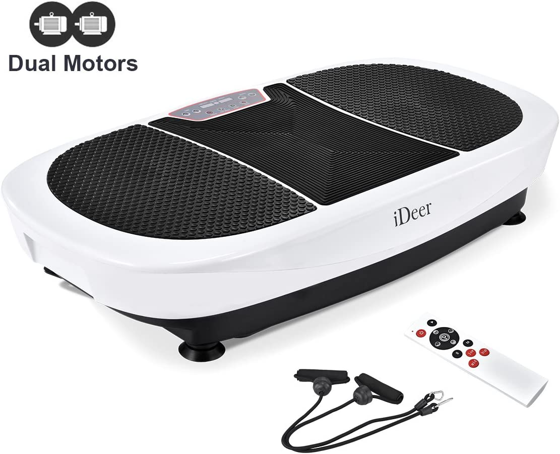 IDEER 3D Vibration Platform Exercise Machine,Dual Motors Oscillation 3D Motion Vibration Plates Exercise Machine,Whole Full Body Fit Massage Vibration Plate for Home Fitness Weight Loss.