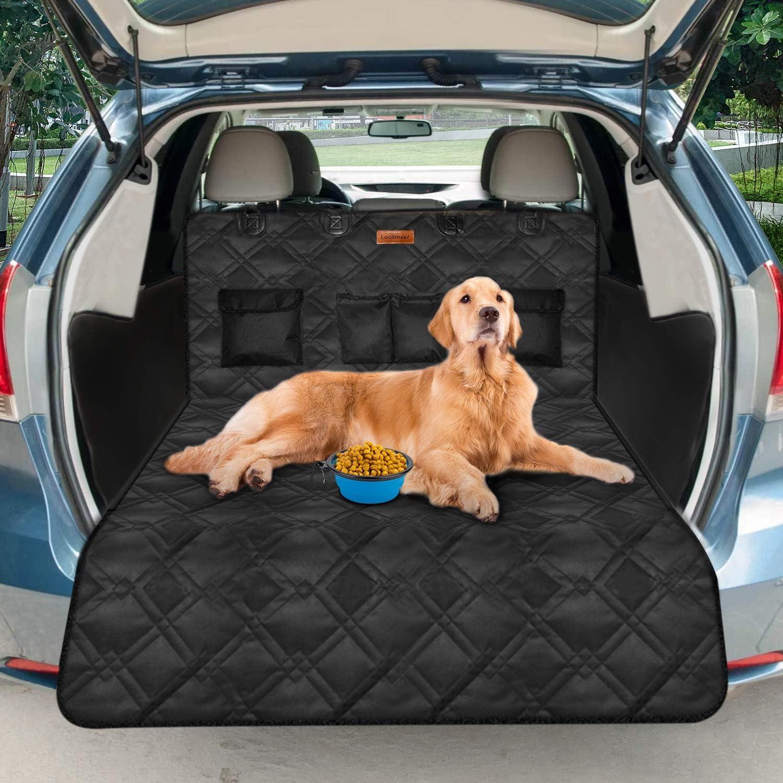Looxmeer Universal Kofferraumschutz Für Hunde Kofferraumdecke Kofferraumschutzmatte Hundedecke Mit Ladekantenschutz Und Seitenschutz Wasserdicht Rutschfest Schwarz Haustier