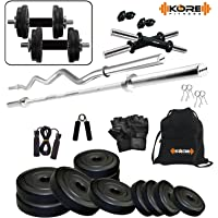 Kore 20kg Home Gym combo (with Barbell + Curl Bar)