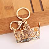 callm Crown Key Ring Chain, Crown Sparkling Key