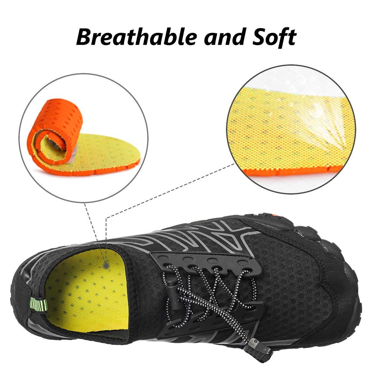 Camfosy Men Women Water Shoes Slip On Quick Dry Barefoot Aqua Socks Swim Shoes Pool Beach Yoga Walking Running Shoes