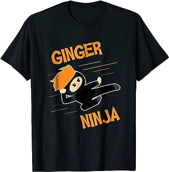 Funny Ginger Ninja T-shirt Ginga Red Hair Meme Quote Gift #2