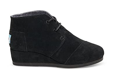 62f771db526 Image Unavailable. Image not available for. Color  TOMS Kids Unisex Desert  Wedge Bootie (Little Kid Big Kid) Black Suede Boot