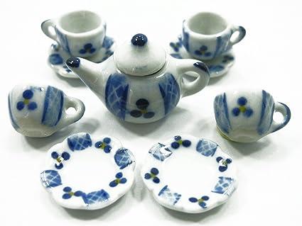 Buy 4 9 Paint Coffee Tea Set Doll House Miniature Kitchen Supply