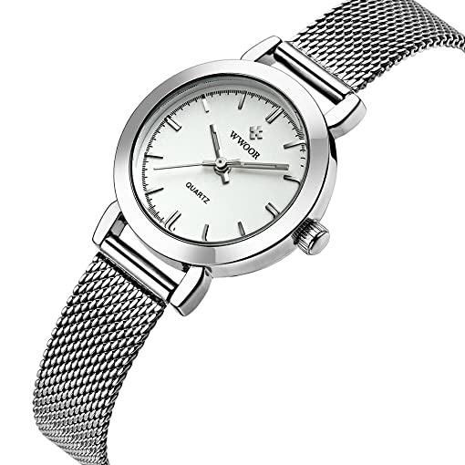 WWOOR New Women Watches Quartz-watch Relojes Mujer coupons for Classic Retro Stainless Straps 011