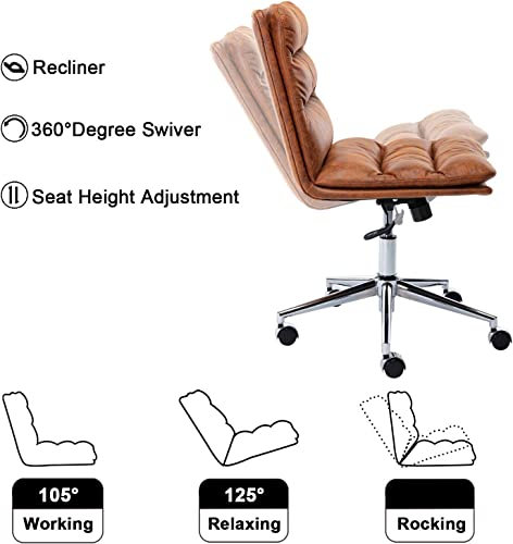 Guyou Leathaire Home Office Chair High Back Computer Desk Chair Bucket Seat