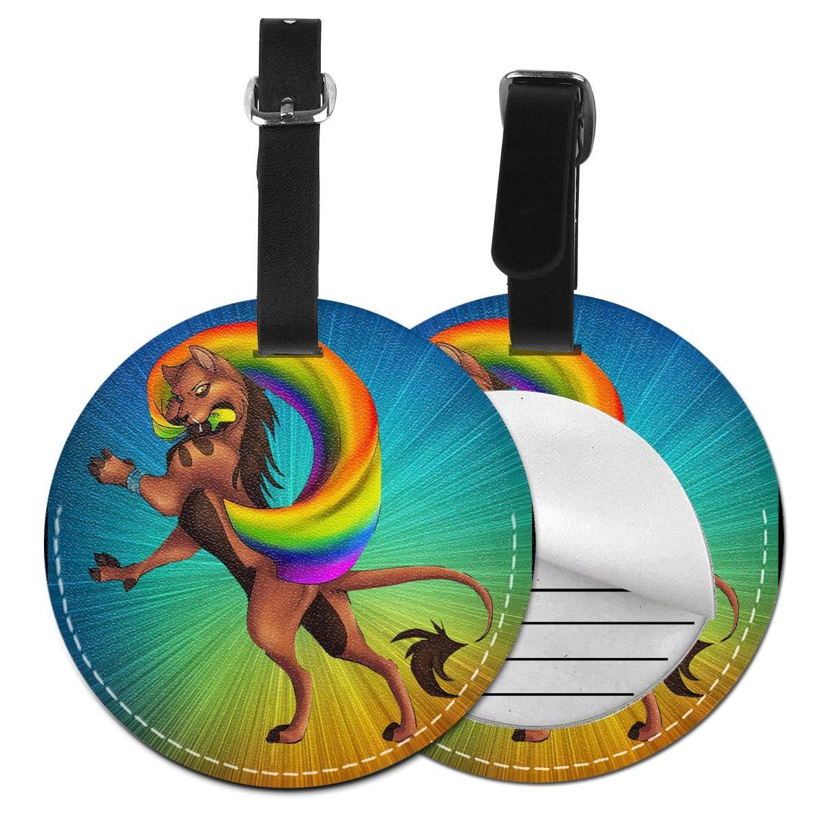Free-2 Pride Parade LGBT Pride Luggage Tag 3D Print Leather Travel Bag ID Card