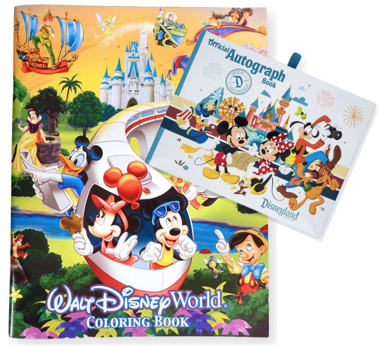 Disneyland Official Autograph Book and 96 Page Coloring Book