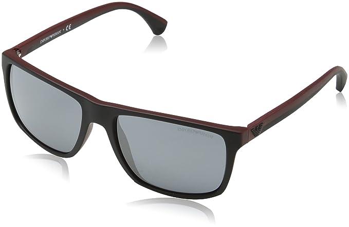 d07438037ca Image Unavailable. Image not available for. Colour  EMPORIO ARMANI Men s  0EA4033 56146G 56 Sunglasses ...