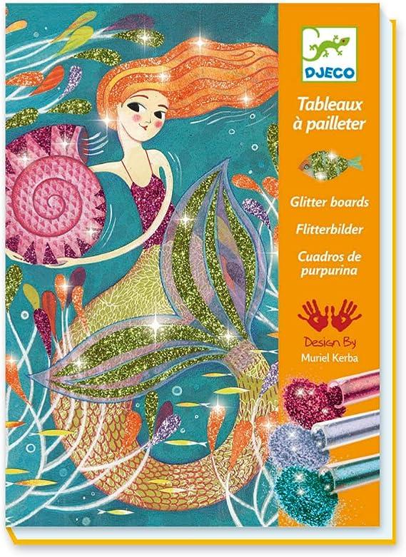 Créer et craft decoupis pack 2 designs mermaid kit No.5 encapsulé paillettes