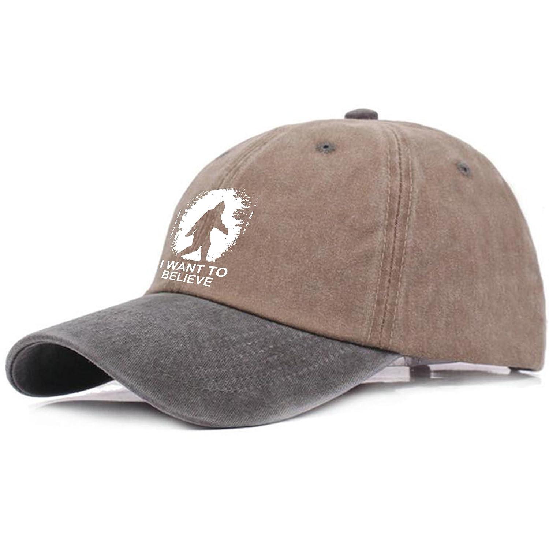 Amazon.com  MdiurDEds Bigfoot I Believe Men s Great Baseball Cap Trucker  Style Hat Casual Cap  Clothing 7c12d51c1698