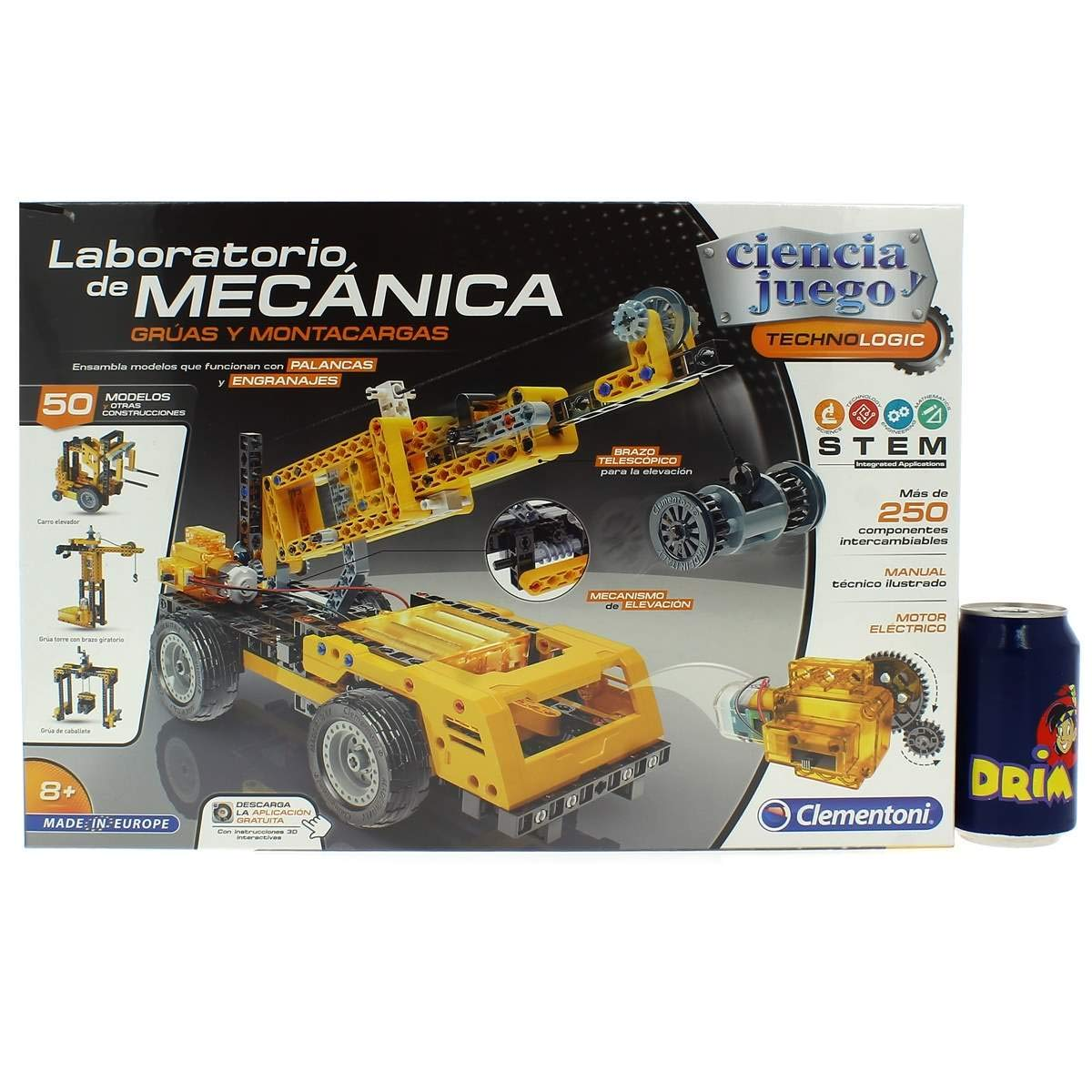 Multicolore 55241 /Gruas et vehiculos de Sauvetage Clementoni/ /Laboratoire de m/écaniques/