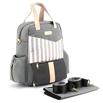 Amazon.com: Mochila para pañales Plambag Fashion, Bolsa de ...