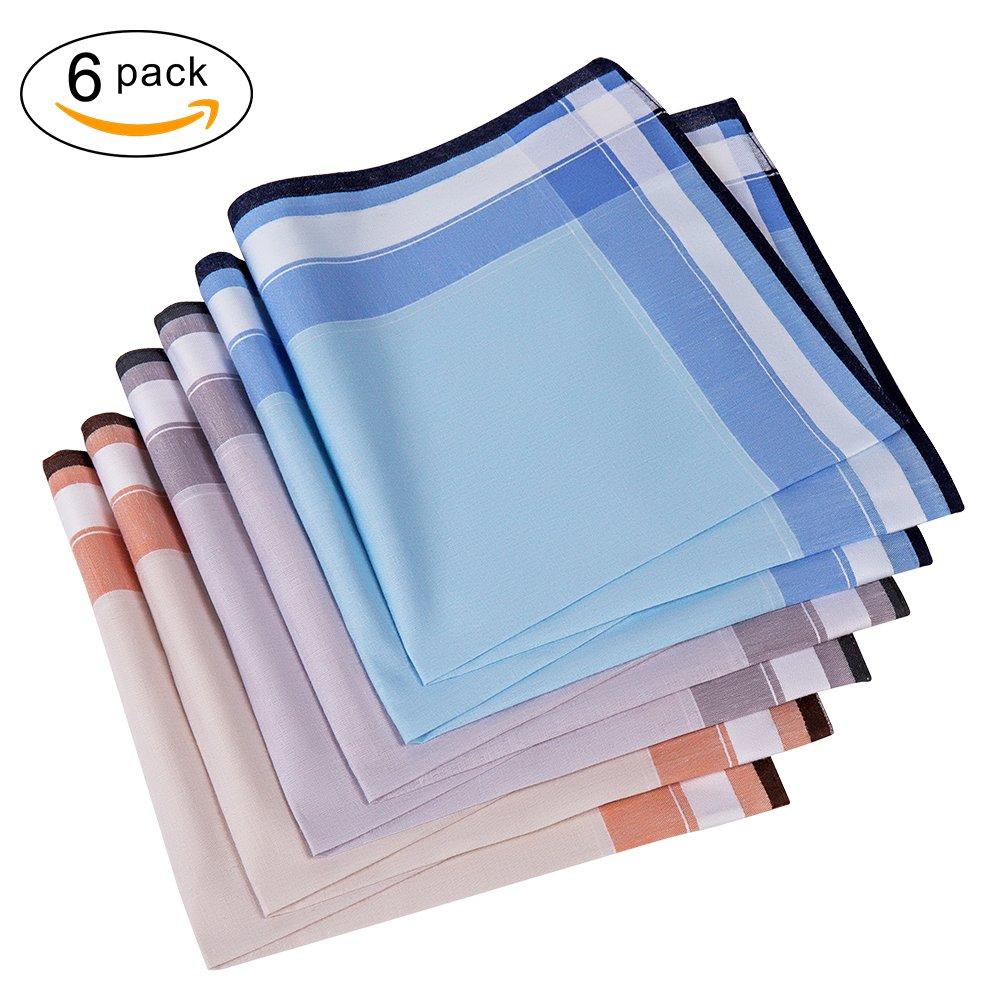 Men's Handkerchief,100% Cotton Classic Hankies (color3)