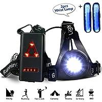 gifort Pecho lámpara 3 modos 250 lm resistente al agua con dos muñeca de haz de luz para o