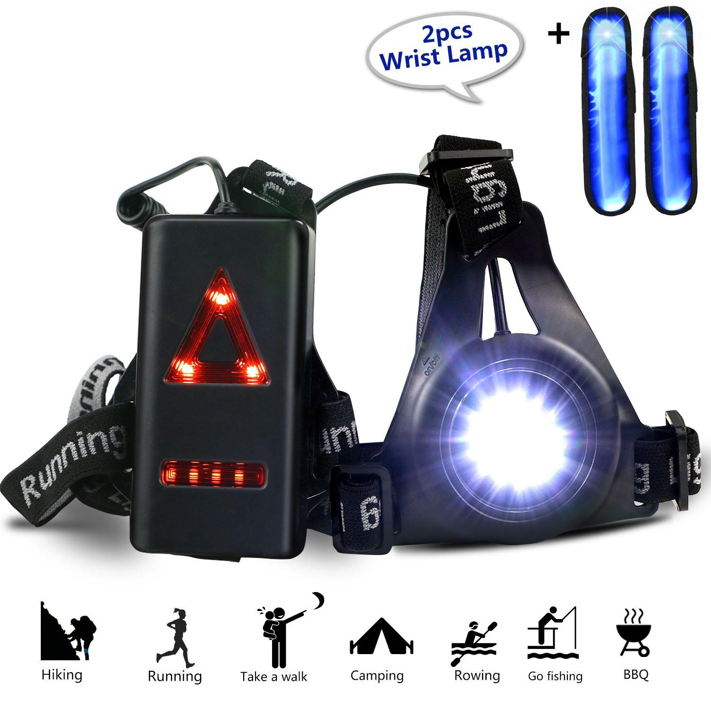 gifort Pecho lámpara 3modos 250lm resistente al agua con dos muñeca de haz de luz para o