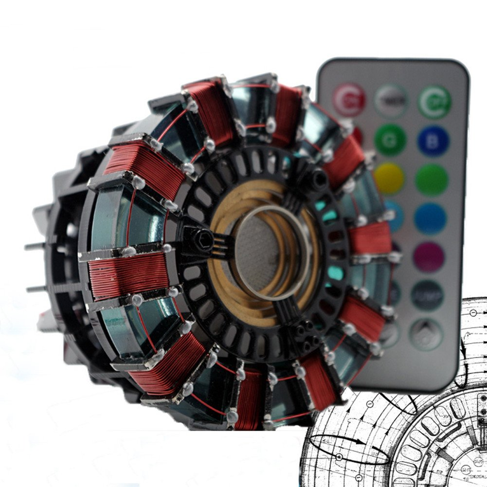 Gmasking Hand-made Remote Iron Man MK1 Led Arc Reactor 1:1 Prop Replica