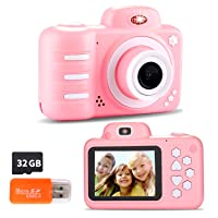 Kids Digital Camera, 12MP Kids Camera for Girls with 2.4 Inch Large Screen 1080P...