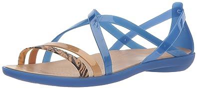 d0233ac4d17 Crocs Women s Isabella GRPH Strappy Sandal Flat