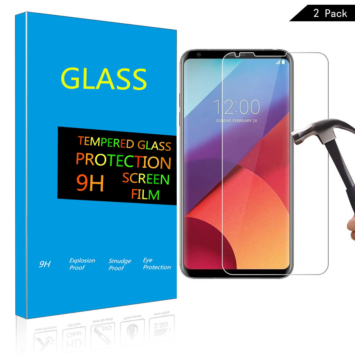 amazon com screen protector for lg v30 tempered glass film guard