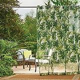 DermaPAD Banana Leaf Grommet Top Outdoor Curtain Panels (108)