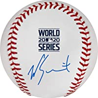 $149 » Will Smith Los Angeles Dodgers Autographed 2020 MLB World Series Champions Logo Baseball - Autographed Baseballs