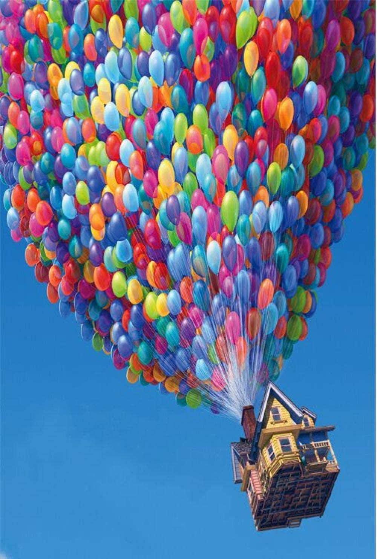 ZDWTXABA Rompecabezas de Madera 1000 Piezas Flying House Rompecabezas de Madera Rompecabezas Vertical de 1000 Piezas Juguetes educativos para ni/ños Adultos