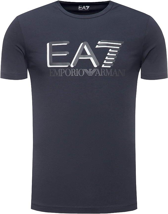 Emporio Armani - Camiseta para hombre 7 Art 3HPT62 PJ03Z 1578, color azul noche, talla a elegir azul oscuro XS: Amazon.es: Ropa y accesorios
