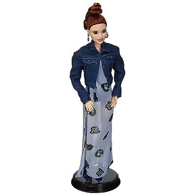 Barbie Fashion Doll Styled by Celebrity Stylist Marni Senofonte with Denim Crop Jacket, Maxi Dress & Accessories: Toys & Games