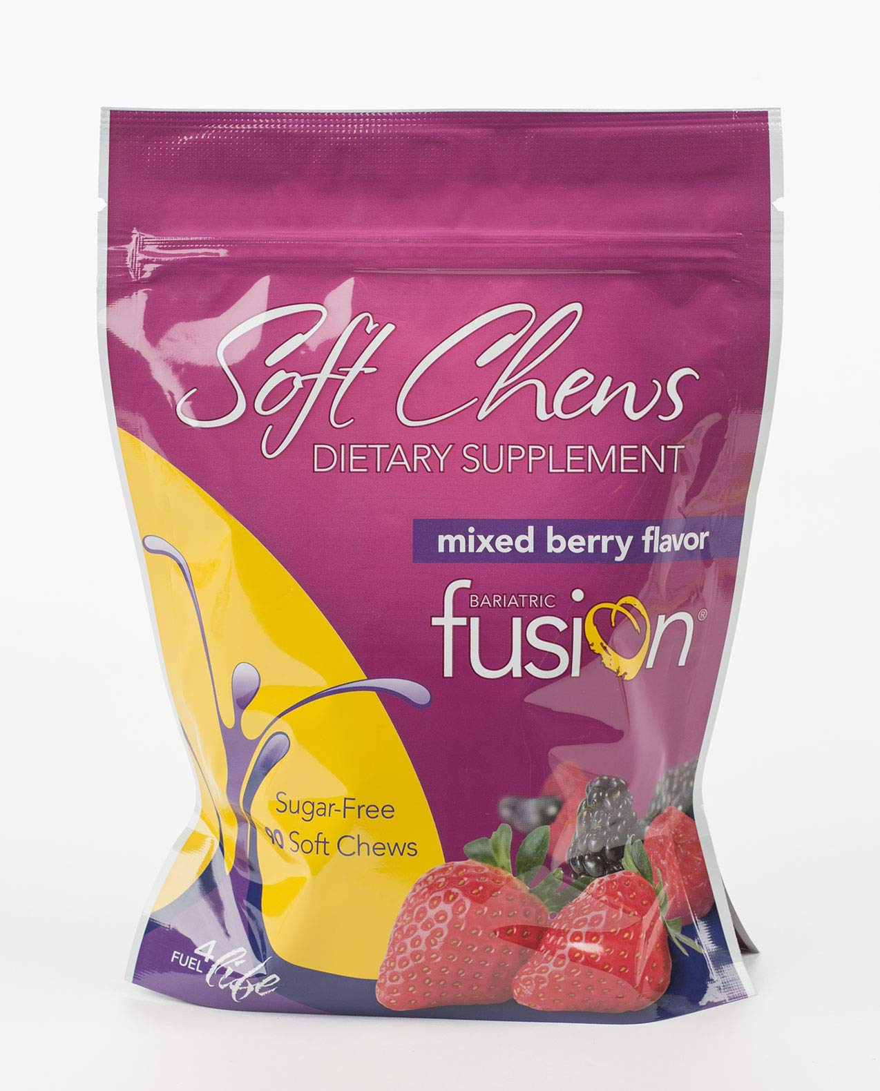 Bariatric Fusion Dietary Multivitamin Supplement Soft Chews Mixed Berry for Gastric Bypass and Sleeve Gastrectomy, 90 Count by Bariatric Fusion (Image #2)