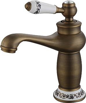 Comprar DP Grifería - Grifo monomando de lavabo en color bronce, modelo Argán
