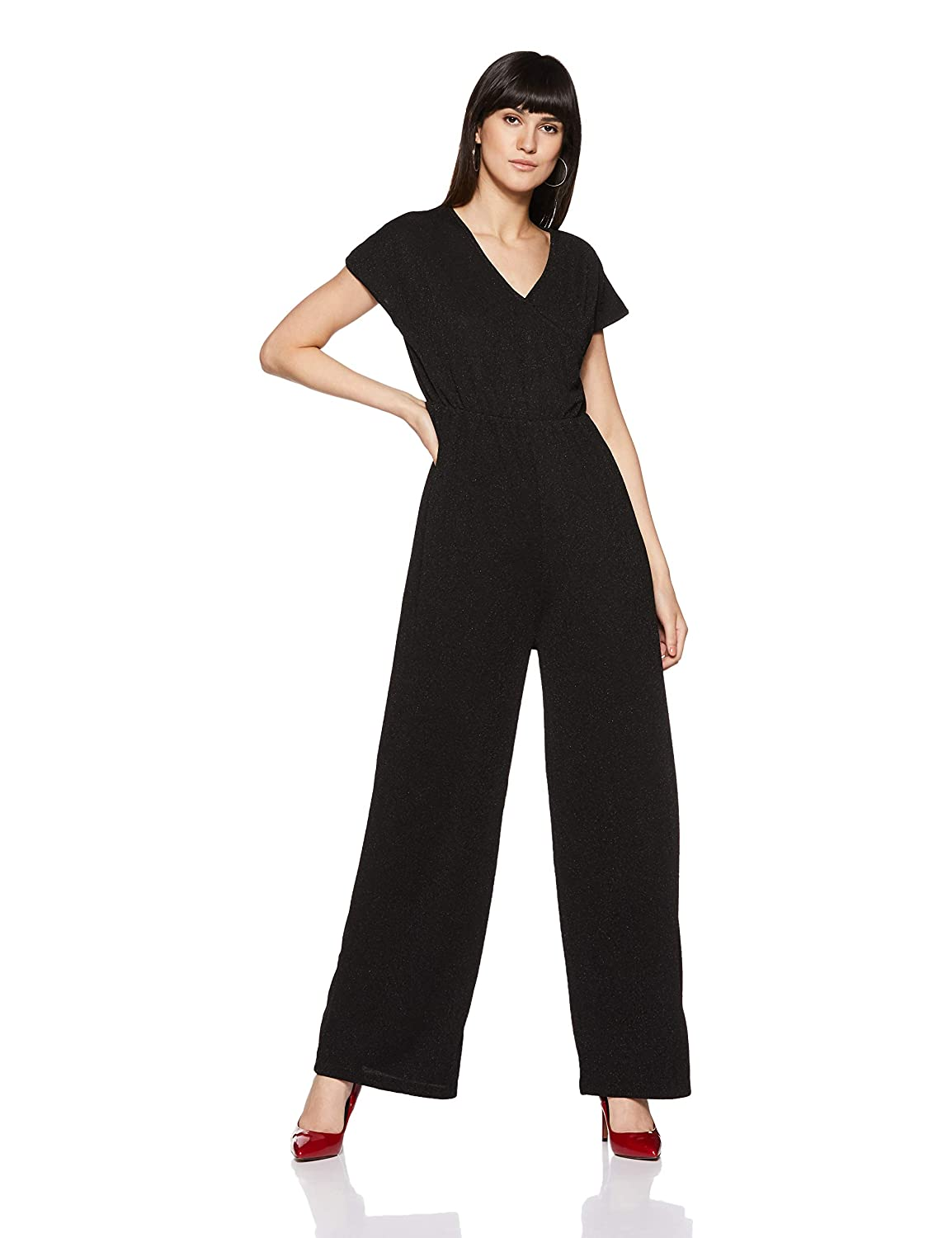 5586f205985 Annabelle By Pantaloons Women s N A N A Jumpsuit (110035967 Black XS)   Amazon.in  Clothing   Accessories