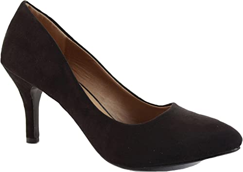 Women/'s Court Shoes Ladies Low Heel Pointed Toe Work Smart Casual Shoes Size 4