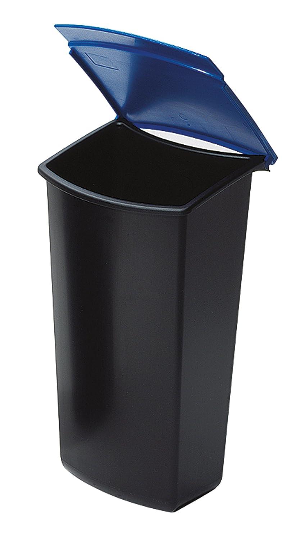 /él/égant et pratique 3 litres noir//bleu Pour une parfaite s/éparation des d/échets insert /à d/échets MONDO avec couvercle HAN 1843-14