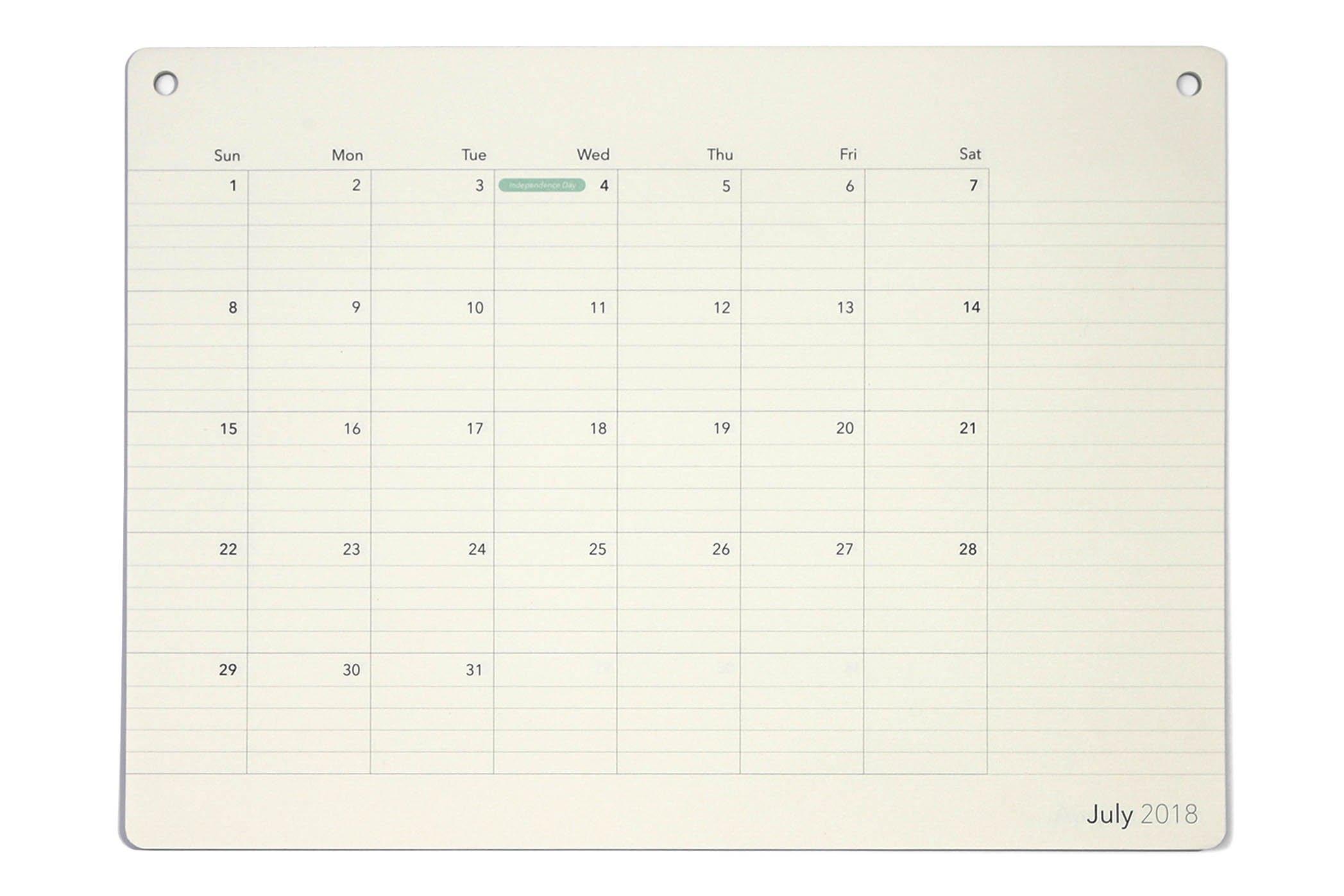 Elegant Desk Calendar · 18 Months · July 2018 - December 2019 · 17.8'' x 13'' · Wall Calendar · Desk Pad Monthly Planner (17.8'' x 13'', Ruled)