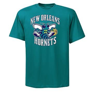 Majestic NBA Nueva Orleans Hornets Chris Paul Nombre & número Camiseta, Hombre, Azul Verdoso