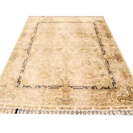 Amazon.com: Camel Carpet 5.6x8.3 Vintage Handwoven Silk ...