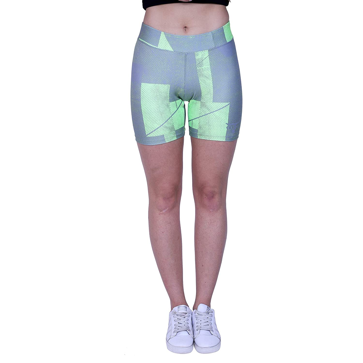 c65e8a18eb50e YOGAIR Ultra Soft Printed Shorts for Women Workout Yoga Capri Athletic  Tummy Control Shorts: Amazon.in: Sports, Fitness & Outdoors