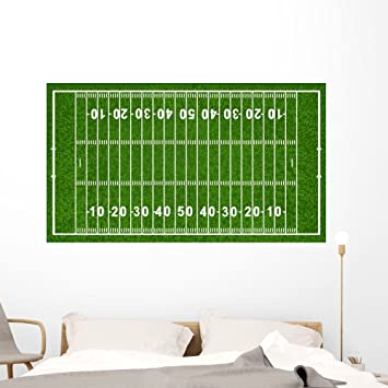 Delightful American Football Field Wall Mural By Wallmonkeys Peel And Stick Graphic  (60 In W X Part 7