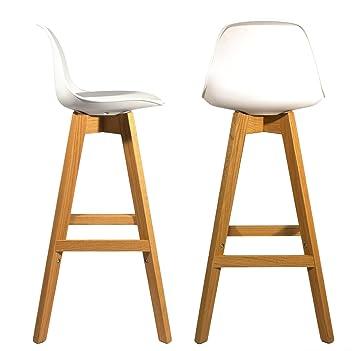 meubletmoi lot de 2 tabourets de bar design au style scandinave avec repose pieds et - Tabouret De Bar Style Scandinave
