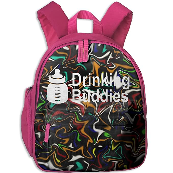c797c2110440 Drinking Buddies Printed Kids School Backpack Cool Children Bookbag Pink   Amazon.ca  Clothing   Accessories