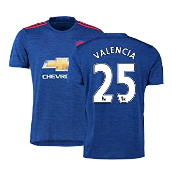 55693474a FC Football Jersey Mens Manchester United Soccer Jersey  25 Valencia Blue   Amazon.co.uk  Sports   Outdoors