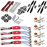 REES52 F450 Quadcopter Frame Kit with A2212 KV1000 Brushless Motor and 4 30A ESC and 2 Pair 1045 Propeller