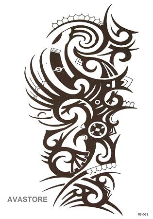 Tatuajes temporales tribali - Tatuaje efímero tribal: Amazon.es ...