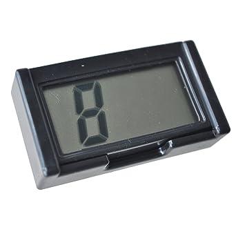 SODIAL(R) Reloj Digital para coche Tiempo Calendario Fecha con soporte
