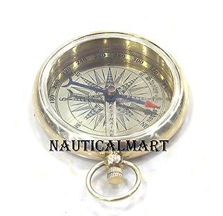 Brass Titanic Pocket Compass Pendant By Nauticalmart