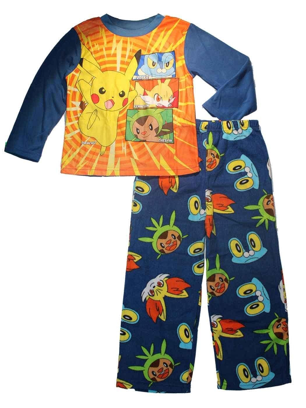 Boys Pyjamas Pokemon Pjs Catch /'em All Pikachu Ash Chespin Black 4 to 6 Years
